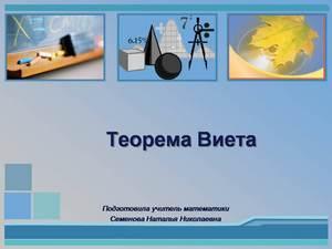 о теореме виета презентация