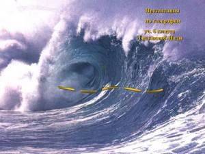 про цунами презентация