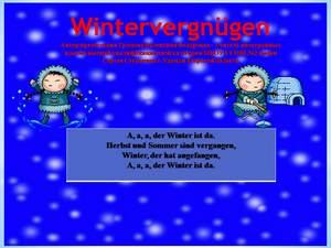 о зимних развлечениях на немецком презентация