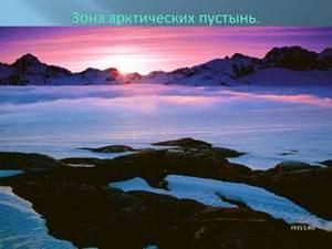 про арктические пустыни презентация